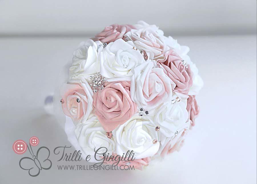 Matrimonio In Rosa E Bianco : Bouquet da sposa in stile country e chic