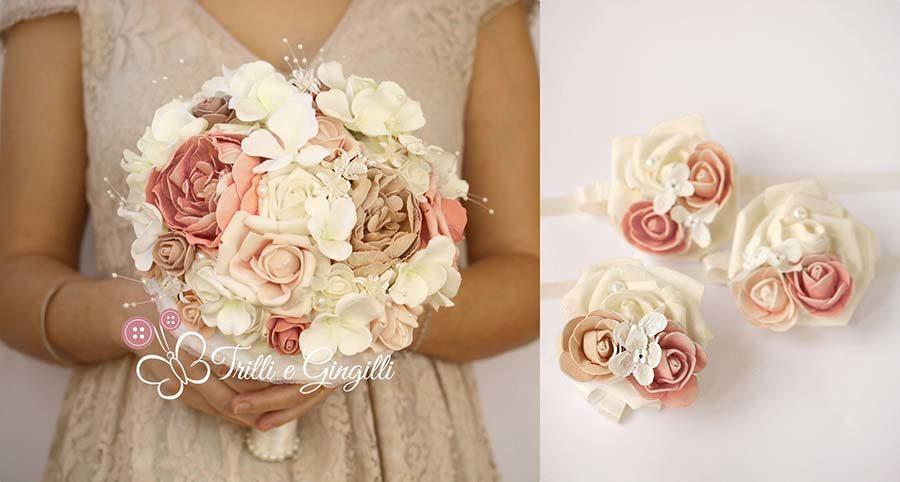 bouquet sposa shabby peonie ortensie