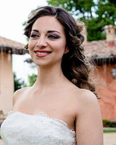 make up sposa red lips