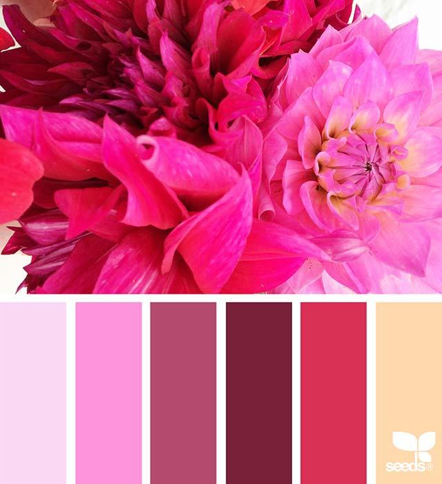 Palette matrimonio rosso e rosa
