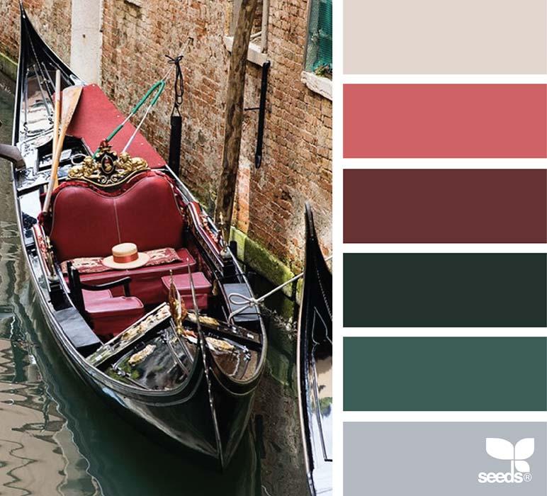 Palette matrimonio rosso e verde scuro
