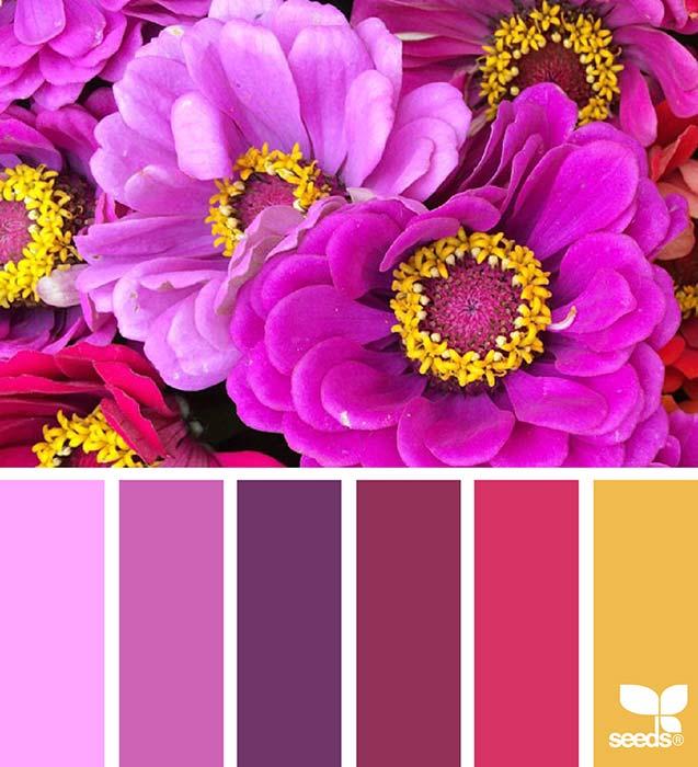 Palette matrimonio rosso e viola