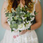sposa boho chic bouquet verde