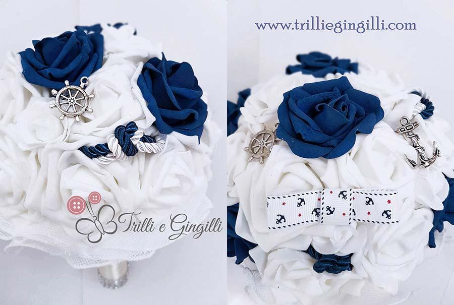 bouquet blu tema mare
