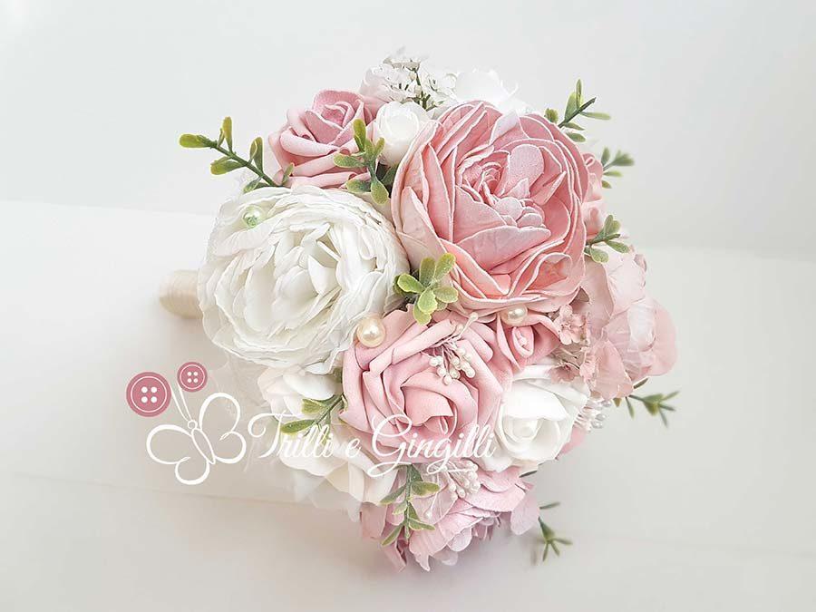 bouquet peonie rosa bianche