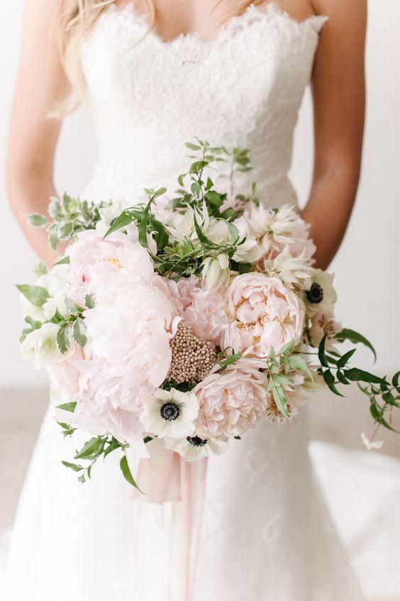 bouquet sposa peonie rosa