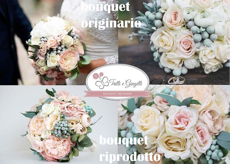 riproduzioni bouquet sposa di peonie