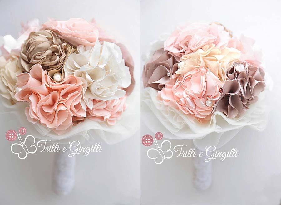 bouquet sposa 2017 boho chic pon pon di stoffa