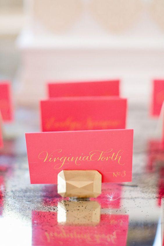 tableau matrimonio pietre preziose escort card segnaposto oro rosa