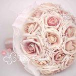 bouquet rosa antico perle