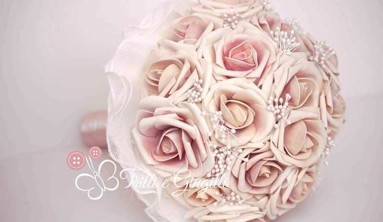 Bouquet di rose rosa originali e perfetti per la sposa!
