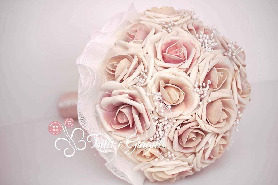 Bouquet Sposa Rose Rosa.Bouquet Di Rose Rosa Originali E Perfetti Per La Sposa