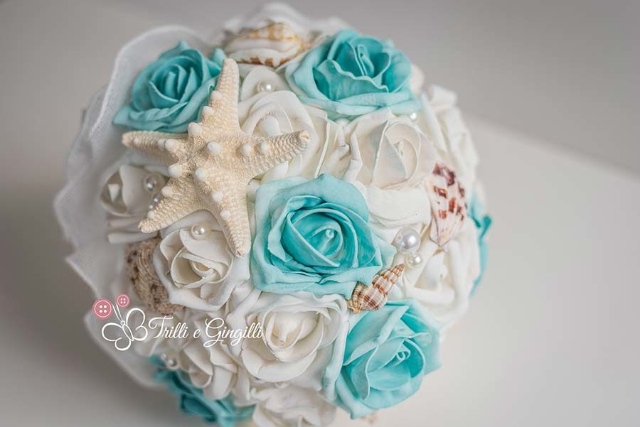 bouquet sposa rose tema mare