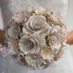 bouquet con fiori di carta