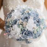 bouquet sposa originali azzurro