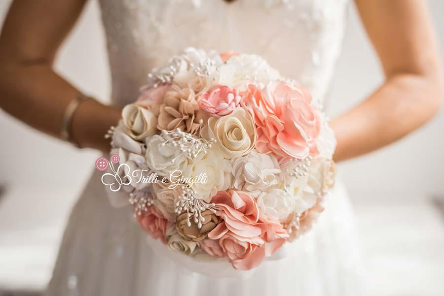 Matrimonio In Rosa E Bianco : Bouquet sposa di stoffa e tessuto ecco i modelli più