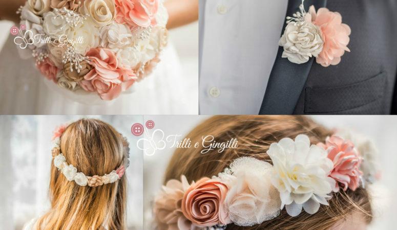 Accessori sposa per capelli coordinati al bouquet