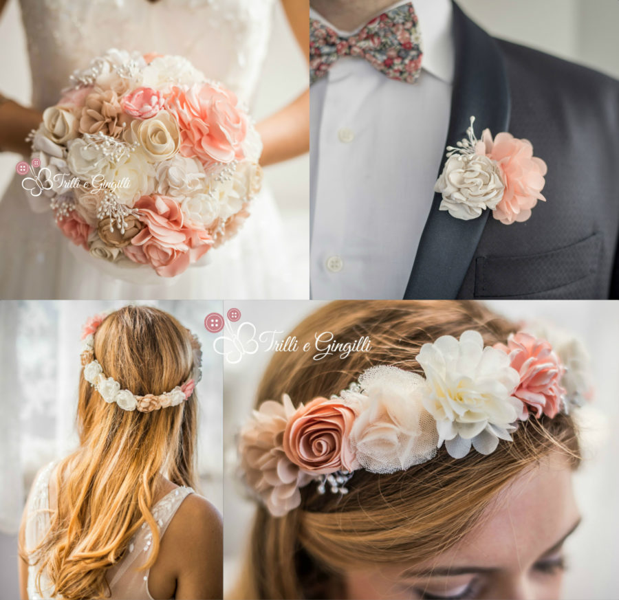 coroncina sposa coordinata bouquet