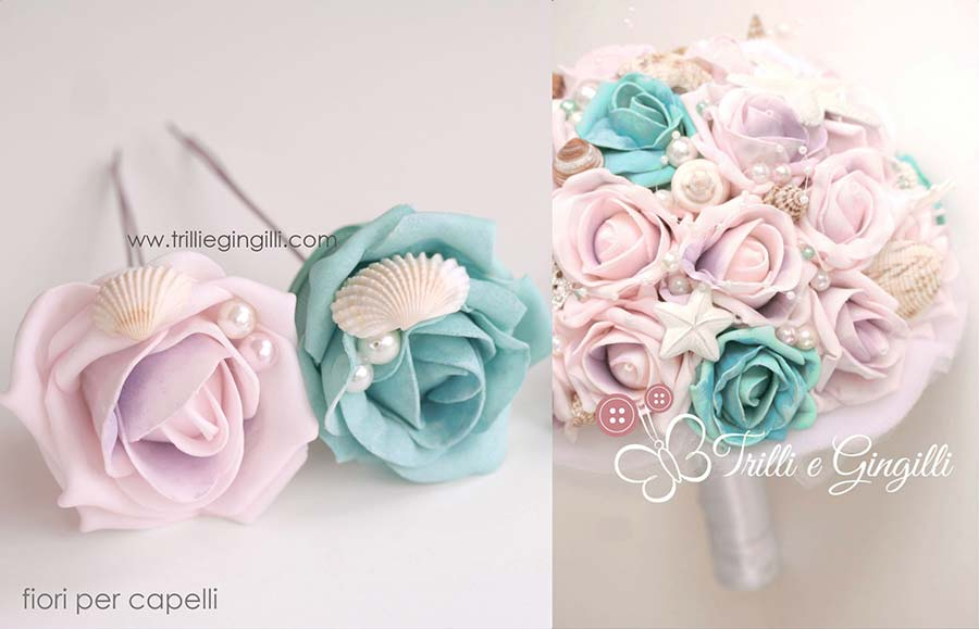 fiori acconciatura sposa coordinati bouquet
