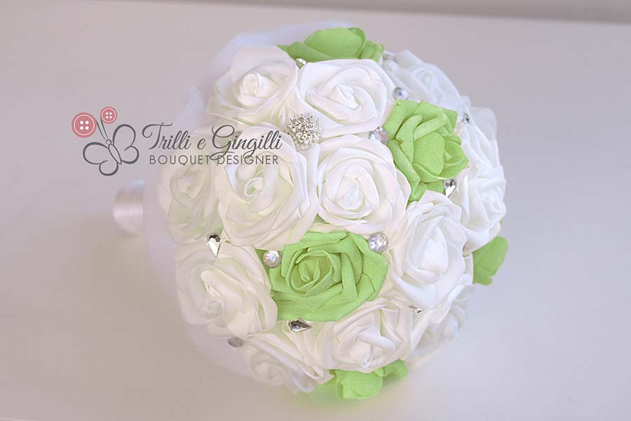bouquet colore matrimoni 2017 verde greenery