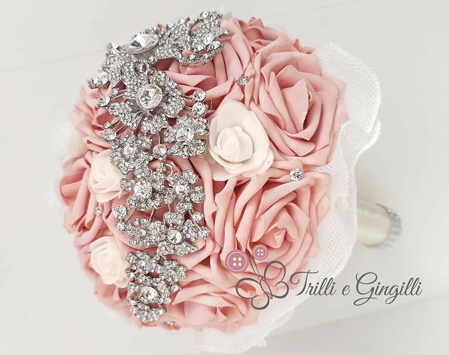 bouquet roselline rosa