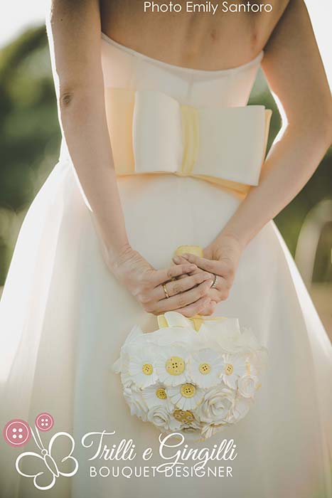 matrimonio tema country chic bouquet margherite