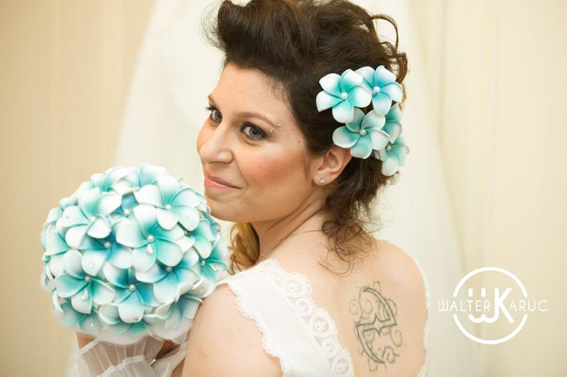 matrimonio tema favole bouquet tiffany frangipani