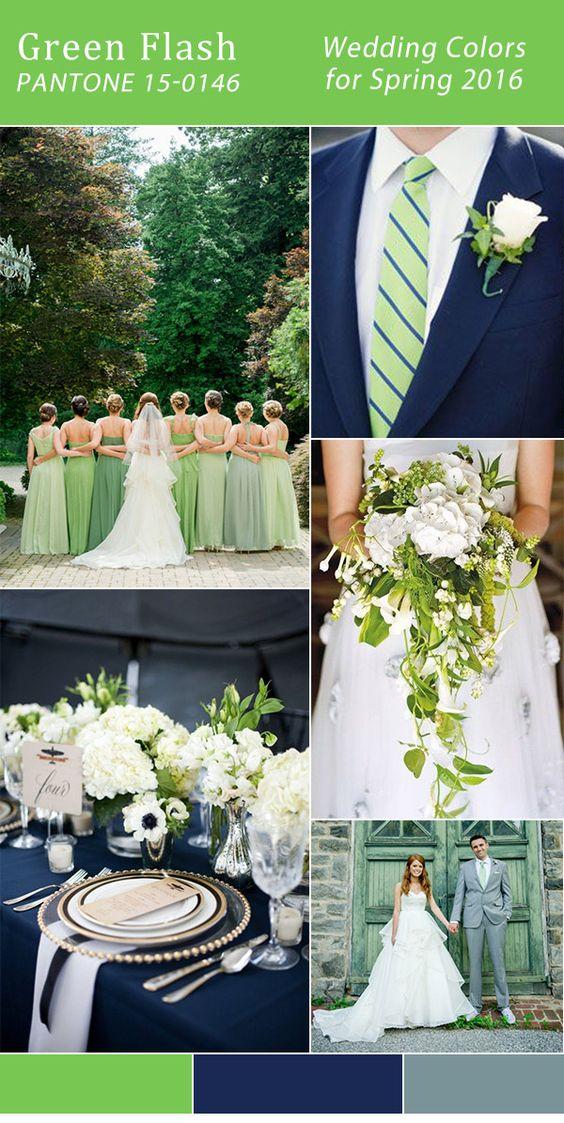 pantone colore matrimoni 2017 verde greenery e blu