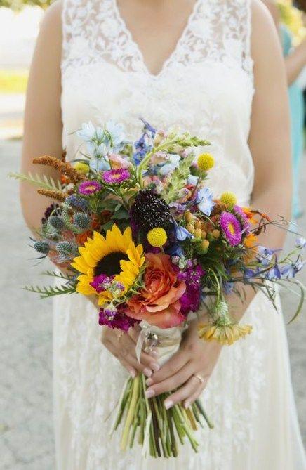 bouquet fiori di campo e girasoli