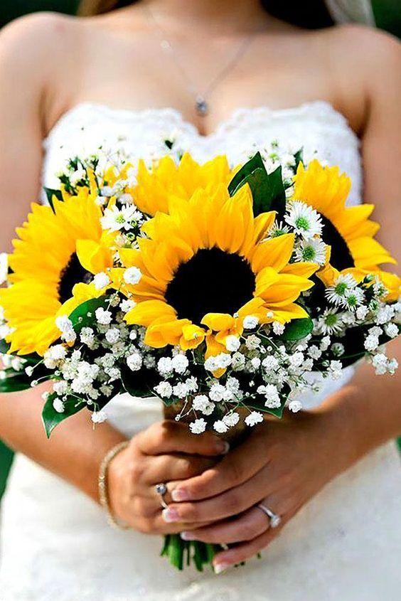 bouquet girasoli sposa