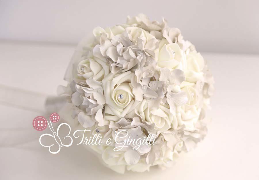 bouquet matrimonio a tema romantico