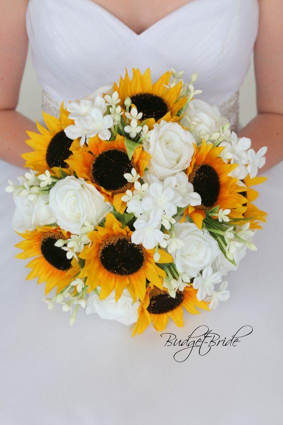 Bouquet Sposa Con Girasoli.Foto Bouquet Sposa Di Girasoli Tanti Esempi Per Il Tuo Matrimonio