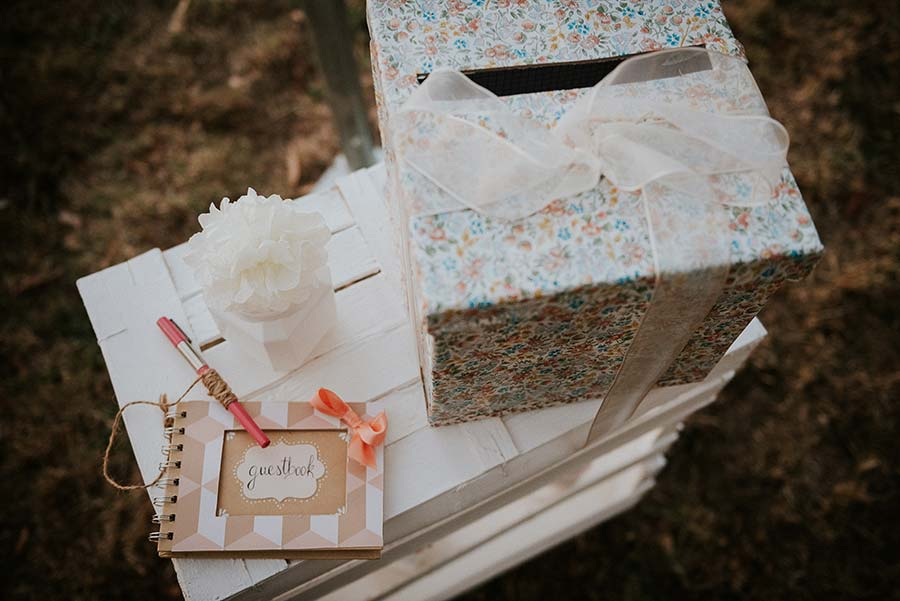 guestbook scatola porta buste country chic