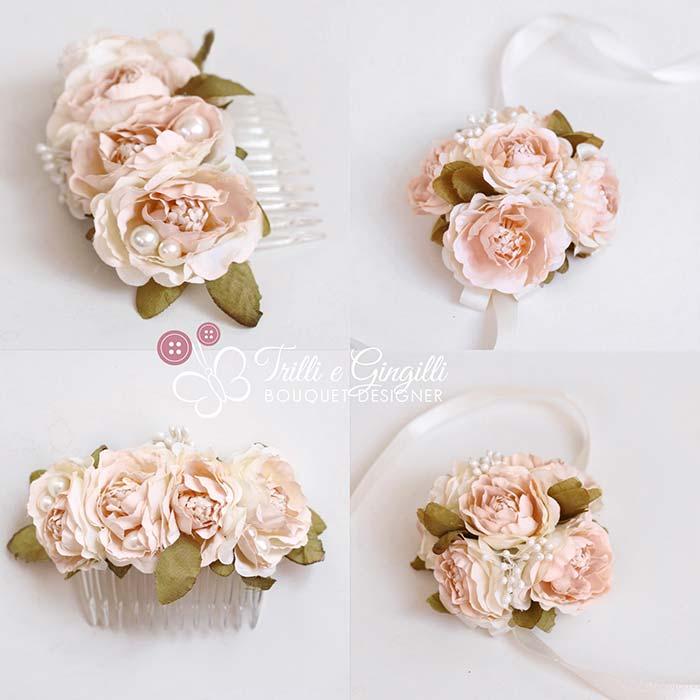 accessori coordinati bouquet polso corsage