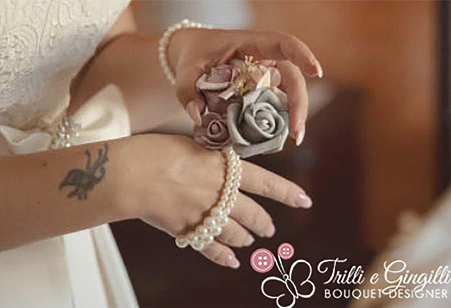 bouquet da polso sposa