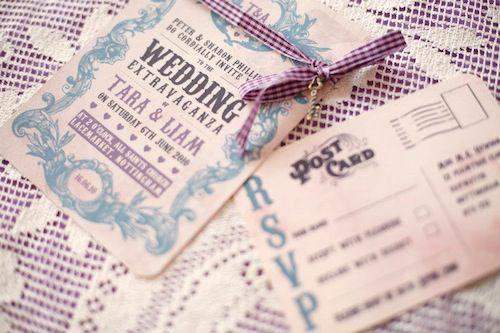 partecipazioni matrimonio tema anni 50 vintage cartoline
