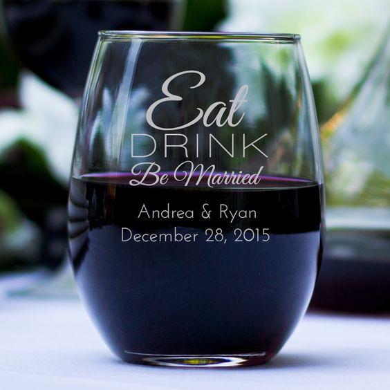 bomboniere matrimonio tema vino bicchieri personalizzati
