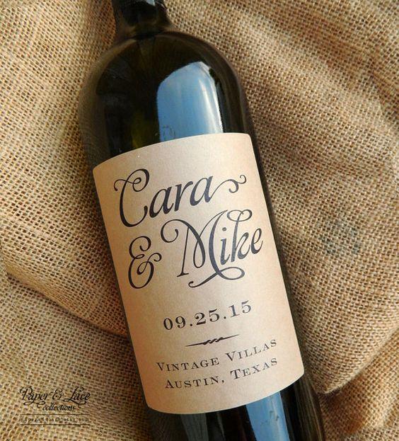 bomboniere matrimonio tema vino bottiglie personalizzate