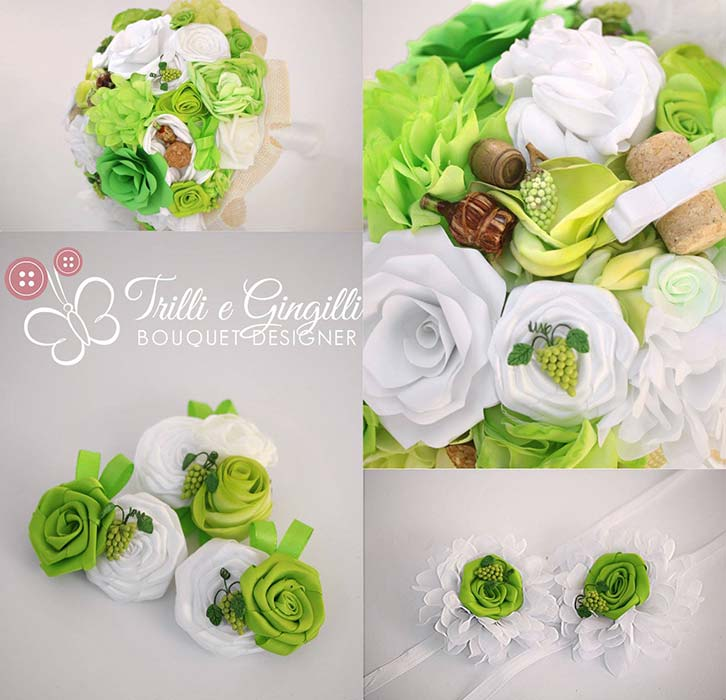 bouquet matrimonio tema vino