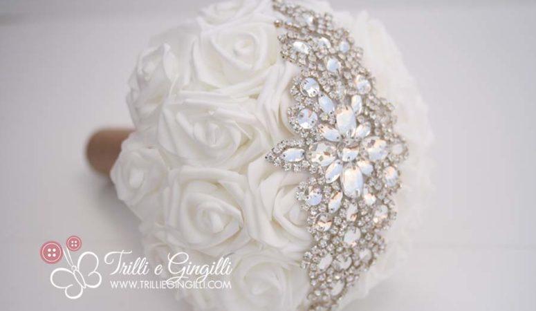Bouquet sposa con strass: ecco i modelli più luccicanti!