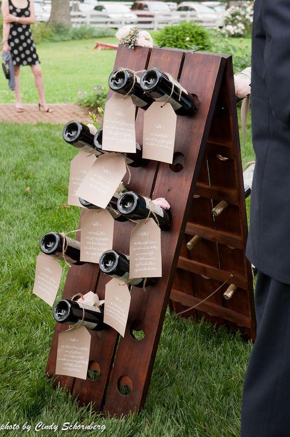 tableau matrimonio tema vino bottiglie