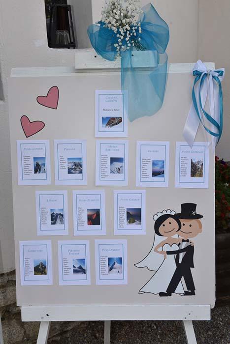 tableau matrimonio tema montagna