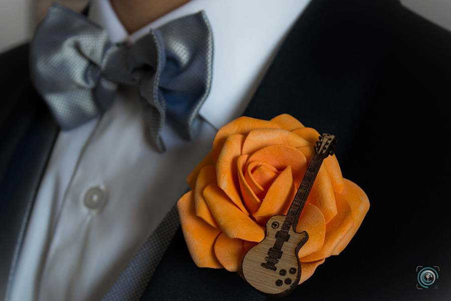 matrimonio tema musica bottoniera