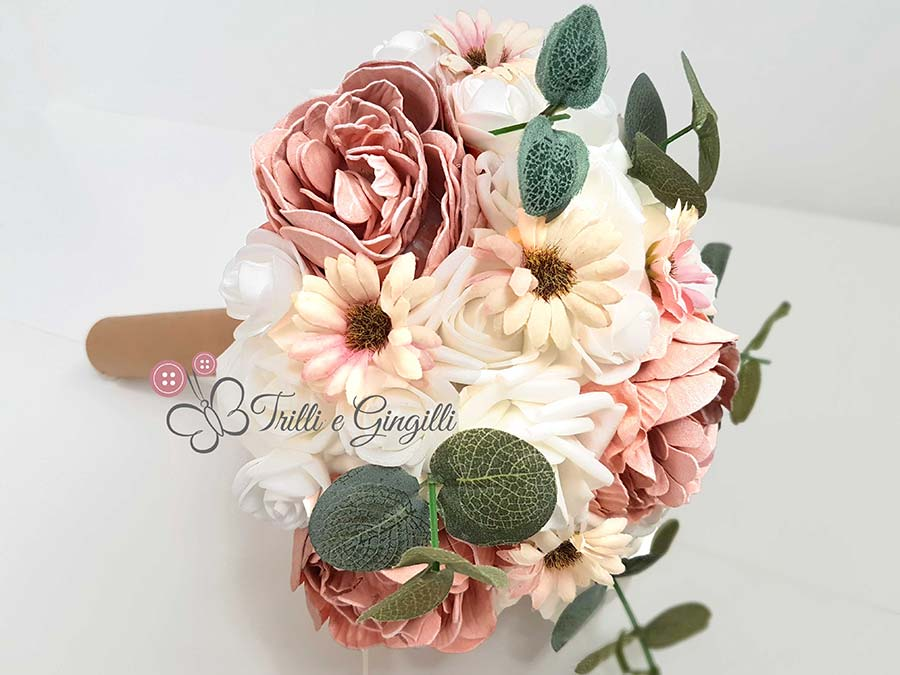 bouquet eco margherite rose