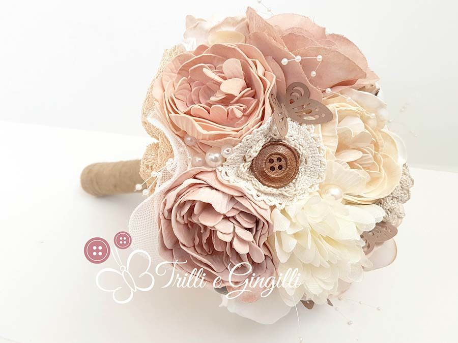 bouquet eco stoffa rosa