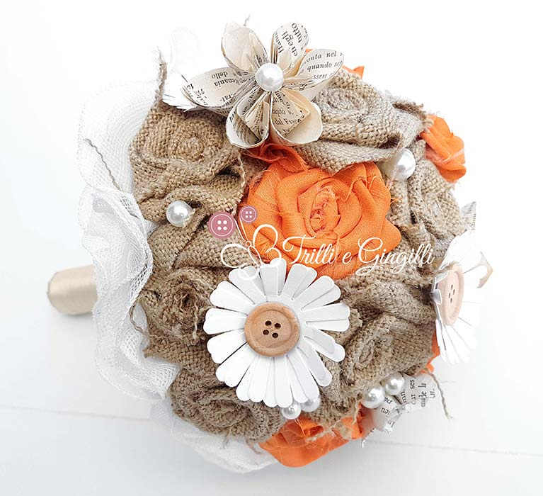 bouquet ecologico stoffa carta