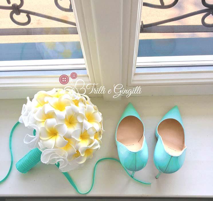 bouquet frangipani tiffany