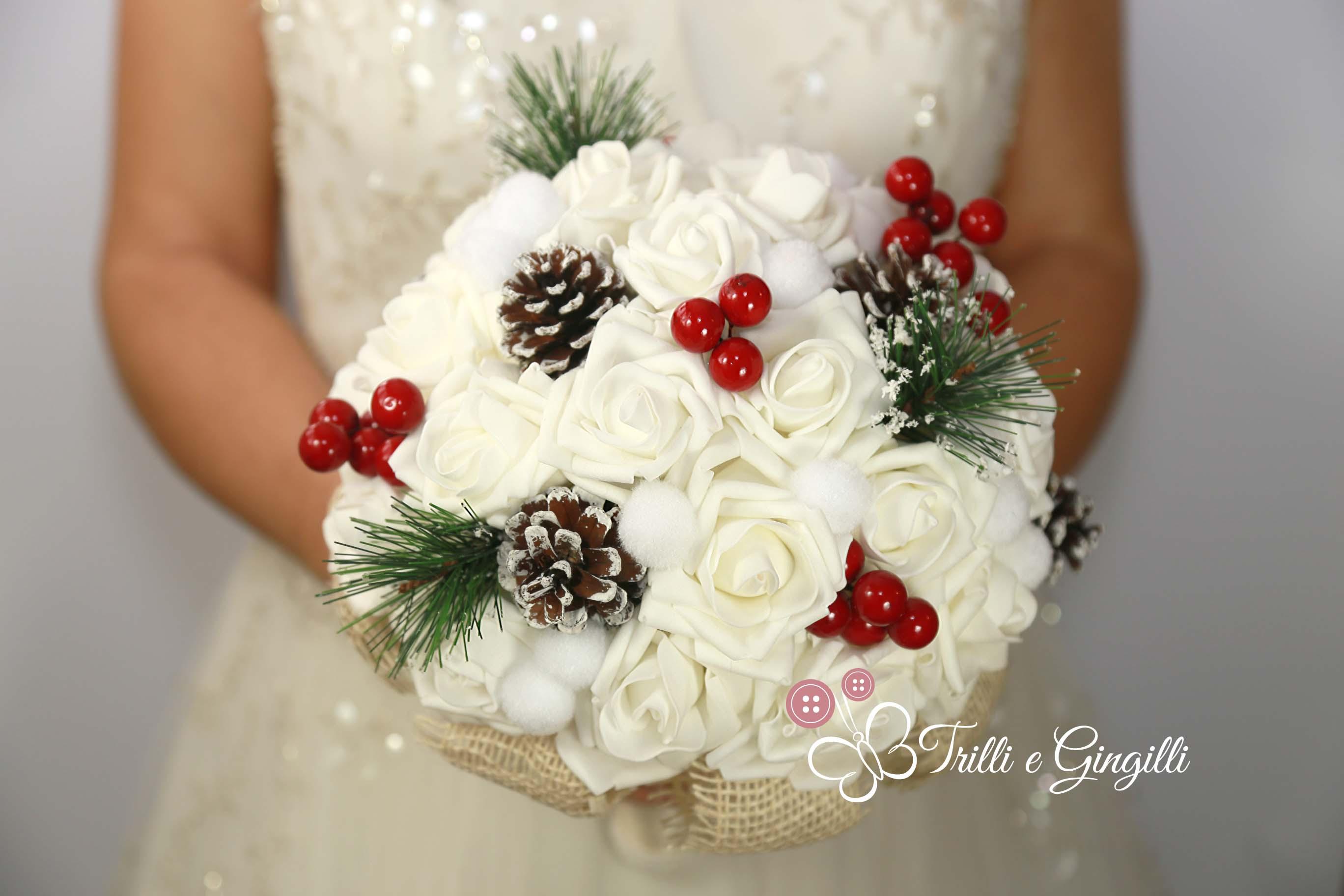 bouquet sposa natalizio