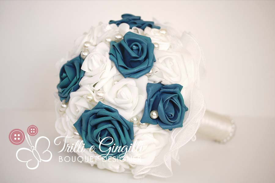 eco bouquet rose blu
