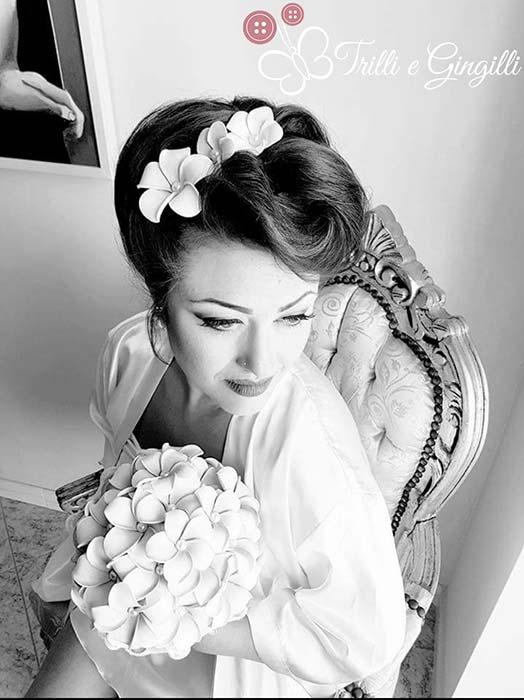 sposa bouquet frangipani